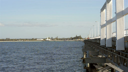 View Of Busselton Jetty Looking Towards The Shore stock footage