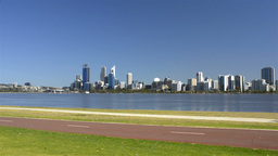 Various People Exercising Along the Swan River in Perth,... Stock Video Footage