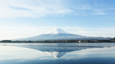 a inverted image of Mt. Fuji Stock Video Footage