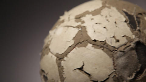 Old soccerball, seamless rotation Footage