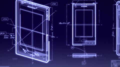 Smartphone Technical Design Animation Animation