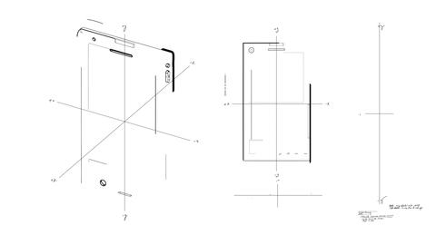 Smartphone Technical Drawing Stock Video Footage