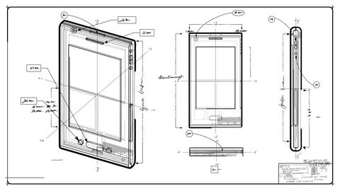 Smartphone Technical Drawing Animation