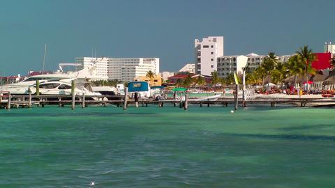 Resort Skyline in Cancun Stock Video Footage