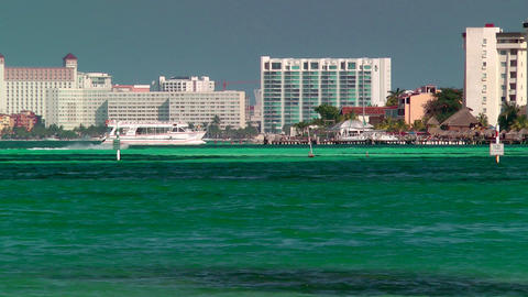 Resort Skyline in Cancun Stock Video Footage