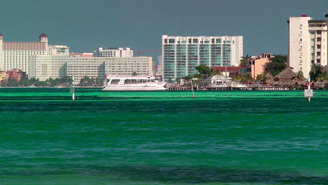 Resort Skyline in Cancun Footage