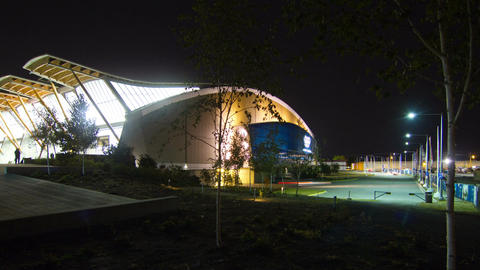 2 Time Lapse shots of The Richmond Olympic Oval Stock Video Footage