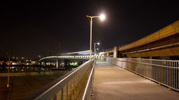 2 Shots of Time Lapse Skytrain bridge connecting R Stock Video Footage