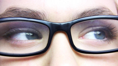Eyes and glasses Stock Video Footage