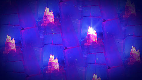 Background with ice flames. Looped seamless Footage