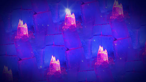 Background with ice flames. Looped seamless Stock Video Footage