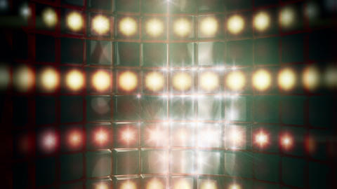 Smoky Stage Lights Backdrop Loop Stock Video Footage