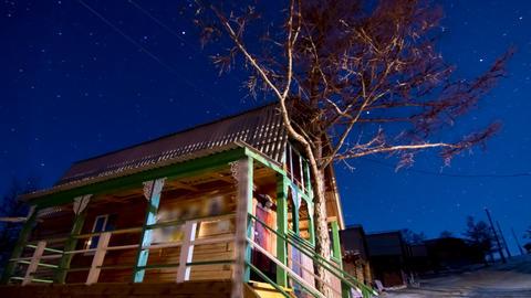 Night landscape Stock Video Footage