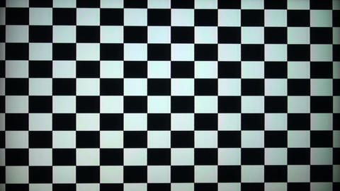 The chessboard to calibrate the TV and monitor Stock Video Footage
