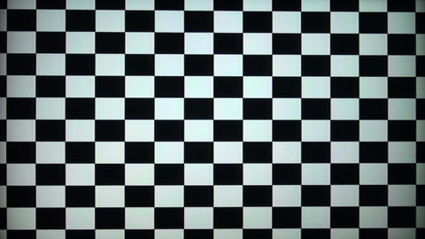 The chessboard to calibrate the TV and monitor Footage