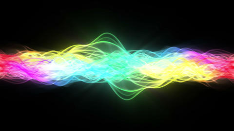 Rainbow Energy Stream stock footage
