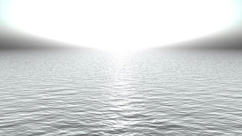 white light reflecting on ocean like heaven Animation