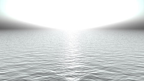 white light reflecting on ocean like heaven Stock Video Footage