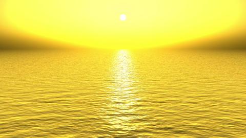 golden sun light reflecting on ocean at dusk Stock Video Footage