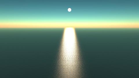 sunlight reflecting on ocean,shine wave sea Stock Video Footage