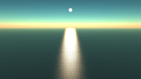 sunlight reflecting on ocean,shine wave sea Animation
