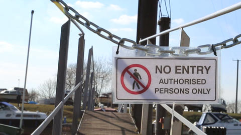 No Entry HD stock footage
