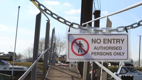 No Entry HD Stock Video Footage