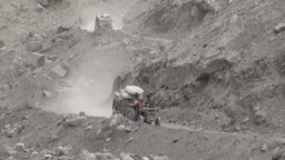 Aid transport Northern Pakistan Stock Video Footage