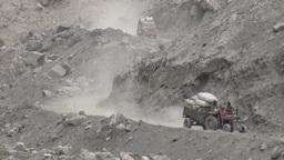 Aid transport Northern Pakistan Stock Video Footage