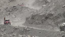 Aid transport Northern Pakistan Footage