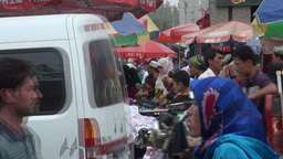 Market, Uyghur, China, Muslims, colorful, busy, pe Stock Video Footage