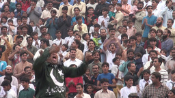 People cheering for Pakistan Footage