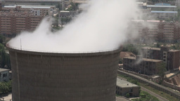 China, coal fired power station, train, energy, el Stock Video Footage