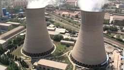 Coal fired powerplant, energy, China, Lanzhou, cit Footage
