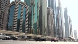 Dubai traffic and skyline Footage