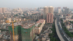 Guangzhou skyline and construction, China Footage