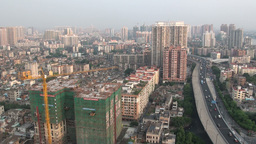 Guangzhou skyline and construction, China Stock Video Footage
