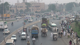 Highway, Lahore, Pakistan Stock Video Footage