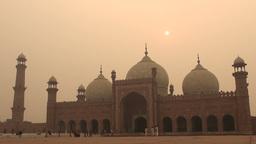 Lahore Badshahi mosque, Pakistan Stock Video Footage