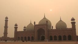 Lahore Badshahi mosque, Pakistan Footage