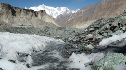 Meltwater, glacier, Pakistan, ice, climate change Stock Video Footage