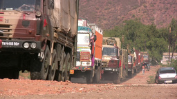 Military Trucks In India stock footage