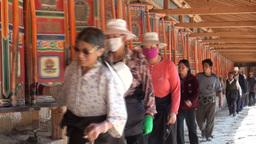 Tibetan pilgrimage, people, Tibet, religion, China Stock Video Footage