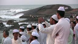 Muslim, pilgrimage, white, religion, picture, Indi Stock Video Footage