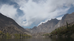 Lake, Time Lapse, Mountains, Pakistan stock footage