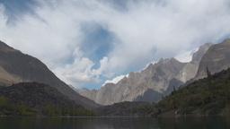 Lake, time lapse, mountains, Pakistan Stock Video Footage