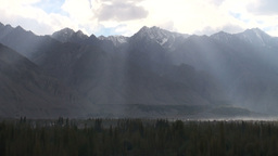 Mountains, Pakistan, Northern, Himalayas, rays of  Footage