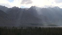 Mountains, Pakistan, Northern, Himalayas, rays of Stock Video Footage