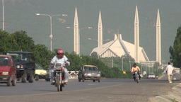 Shah Faisal mosque in Islamabad, Pakistan Footage