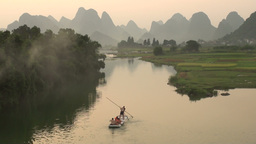 Tourism, karst scenery, rafting, beautiful, nature Stock Video Footage